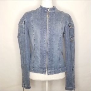Womens Juicy Couture Jean Jacket Size Large
